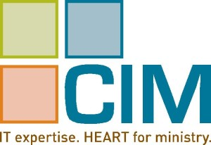 CIM logo and slogan IT expertise. Heart for ministry