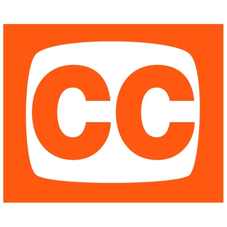 Orange Closed Caption Sign